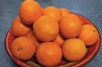Obstschale mit Mandarinen