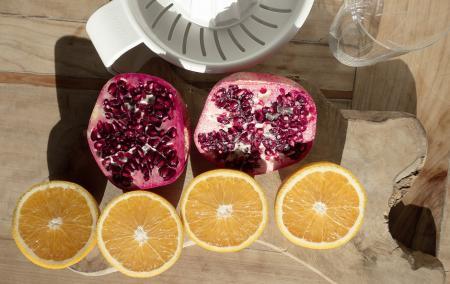 Orangen Granatapfel